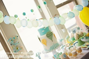 Hot Air Balloon Cake by Kara's Party Ideas