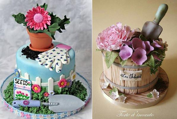 a cake for a gardener flowerpot cakes via Pinterest