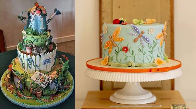 a cake for a gardener watering can cake (images via Pinterest)