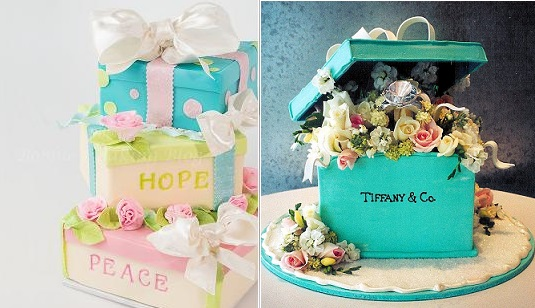gift-box-cake-tutorial-by-Bobbies-Baking-blog-left-and-gift-box-cake-from-Rosebud Cakes right