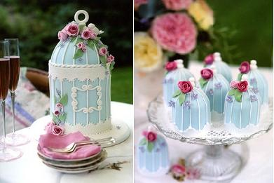 Bird cage cakes by Peggy Porschen