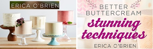 Buttercream techniques tutorials with Erica O'Brien