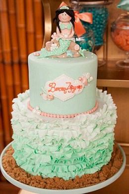 Mermaid Cake as featured on Kara's Party Ideas.com