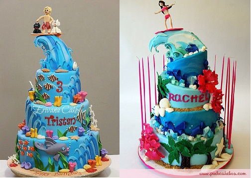 Surfer Cakes By Erivana Com And Thepinkcake Box