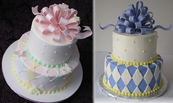 harlequin cakes by DianeLM on Cake Central .com