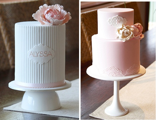 Personalised Cakes With Simple Amp Pretty Name Plaques