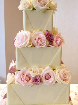 White Chocolate Envelope Wedding Cake