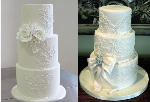 Lace Wedding Cakes Part 2: Lace Piping
