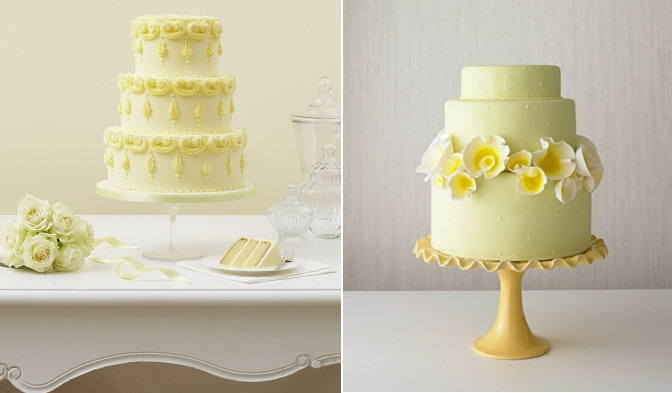 Lemon Wedding Cakes By Peggy Porschen Left And The Cake S Right