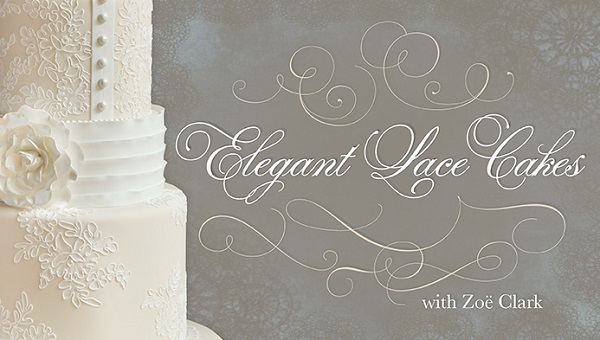 lace piping wedding cake tutorial by Zoe Clark on Craftsy