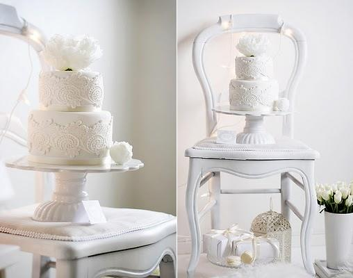 lace wedding cake   by Call Me Cupcake