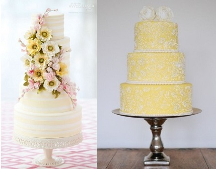 Lemon Wedding Cakes From Bobbette Belle Via Wedluxe Left And Yumnums Uk Right