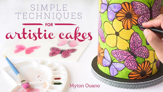 Painted cakes tutorial by Myton Ouano on Craftsy