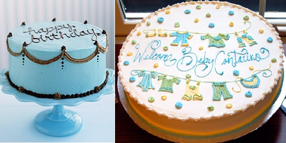 Writing in icing examples from Martha Stewart.com and thekitchn. com