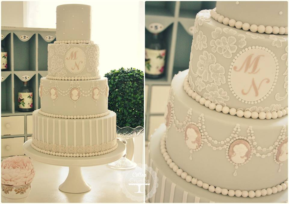 cameo wedding cake by Cotton & Crumbs