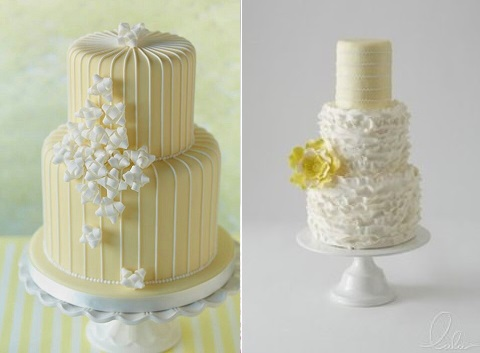 Lemon Wedding Cakes Via Pinterest Left And From Lulu Cake Boutique Right