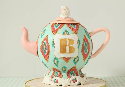 teapot cake tutorial by Mary Maher on Craftsy