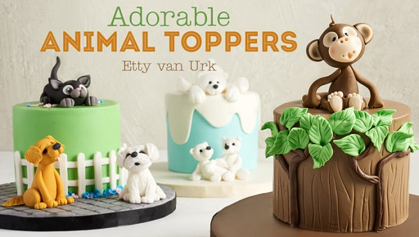 Animal Cake Toppers tutorial on Craftsy