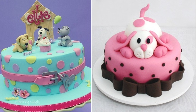 Dog Cakes by Made by Gayle Cakes and from httpcheioderecheio.blogspot.com.br