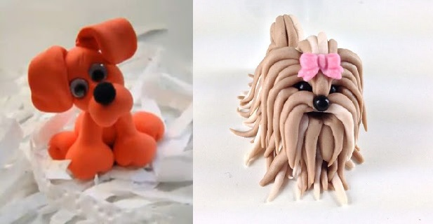 puppy dog cake toppers and tutorials