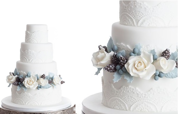 winter wedding cake Mina Magiska Bakverk