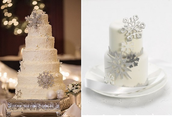 Snowflake-Wedding-cakes-from-SalAndBella-.com-left-and-Zoe-Clark-of-The-Cake-Parlour-right