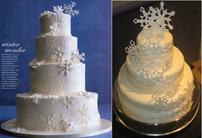 Snowflake-wedding-cakes-by-Sylvia-Weinstock-as-featured-in-In-Style-Magazine-left-and-by-Sugarrush74-on-Cake-Central.com