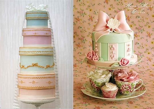 Vintage Hat Box Birthday Cakes