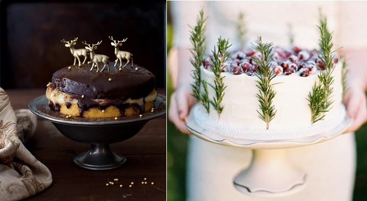 Elegant Christmas Cake Decoration : Chic Christmas Cake Decorating - Cake Geek Magazine