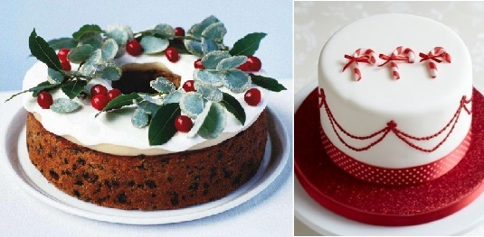 christmas cakes decorating ideas from bbc good foodcom left and little venice