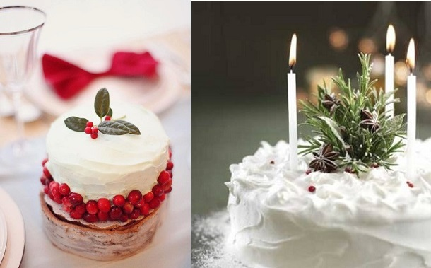 rustic christmas cake decorating ideas from pinterest left and from good housekeeping magazine - Christmas Cake Decorations