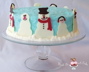 snowman christmas cake from Bird on A Cake