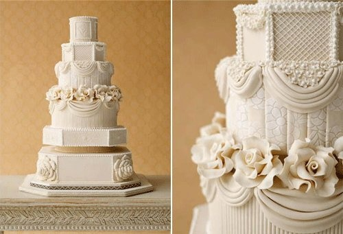 Downton Abbey wedding cake via Tumblr