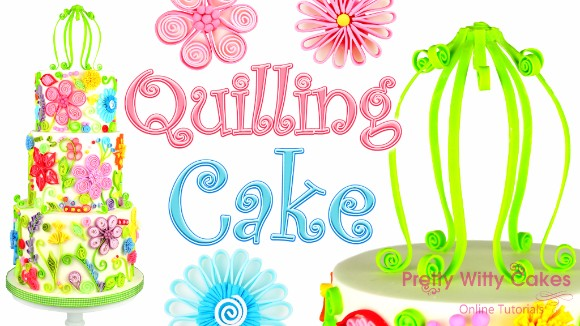 Quilled Cake Tutorial by Suzi Witt