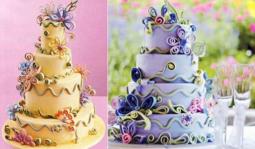 cakes with quilling by Colettes Cakes