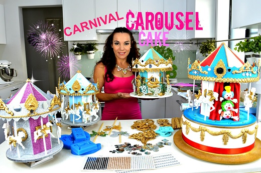 carousel cake tutorial by Verusca Walker