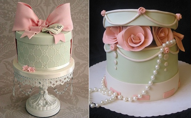 hatbox cakes by Sweet Tiers, Hester, UK (left) and Mina77 on Cake Central (right)