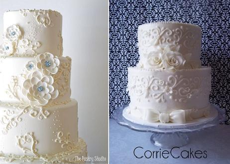 Piping Techniques Scroll With Cakes By The Pastry Studio Left And From Corrie Right