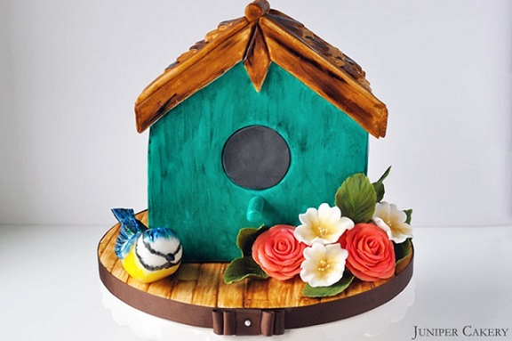 Birdhouse Cake by The Juniper Cakery