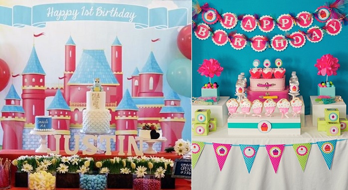 Sweet Table styled by Pretty Little Events and cakes by Sweet & Saucy Cakes left and right via Kara's Party Ideas