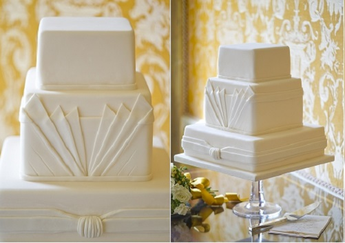 art deco wedding cake by GC Couture Cakes