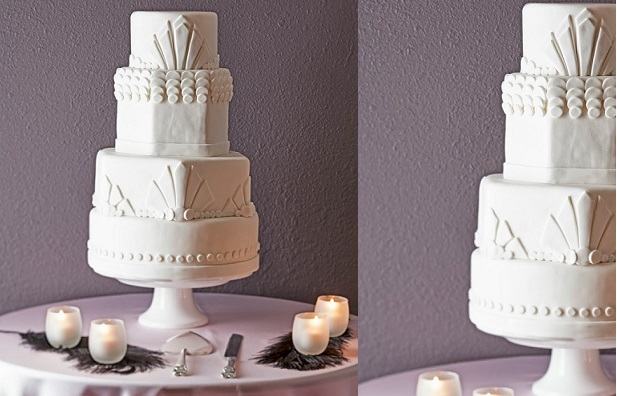 art deco wedding cake by Tiers of Joy Cakes Reno