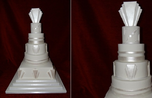 art deco wedding cake from Top Nosh Cakes UK