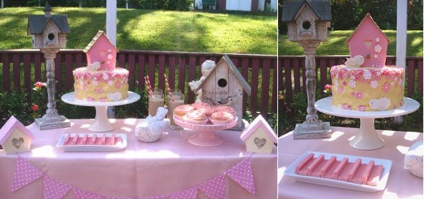 birdhouse cake and sweet table from the Butter Hearts Sugar blog (2)