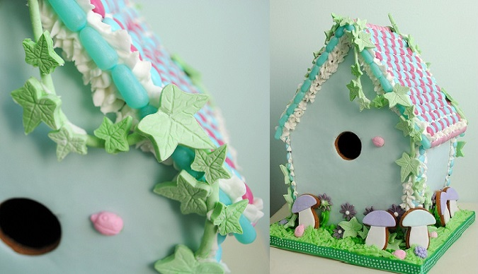 birdhouse cake woodland theme by Torie Jayne