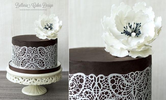Lace For Cake Decorating : Chocolate Cake Decorating Chic - Cake Geek Magazine - Cake ...