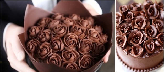 chocolate cake decorating ideas chocolate roses via Tumblr left and from Zoe Bakes right & Chocolate Cake Decorating Chic | Cake Geek Magazine