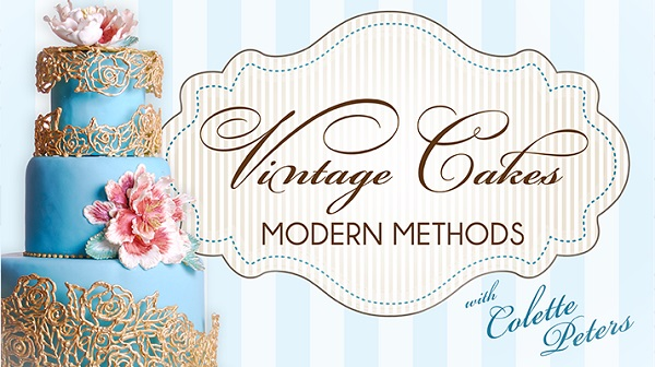 vintage cake decorating techniques tutorial by Colette Peters on Craftsy