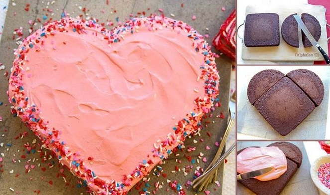 valentines cake heart cake tutorial via Pinterest