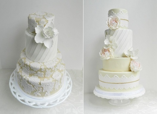 pleated wedding cake designs by The Cake Whisperer